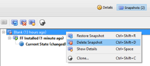Delete unneeded snapshots