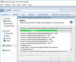 Install VirtualBox Tools