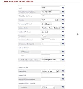 Load Balancer - WAC Virtual Service