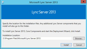 Lync 2013 FE Prep - 1 Start Install