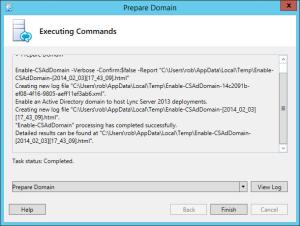 Lync 2013 FE Prep - 7 AD Prep Domain