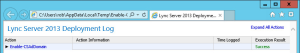 Lync 2013 FE Prep - 8 AD Prep Domain Log