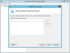 Lync 2013 FE Topology - 02 Additional SIP Domains