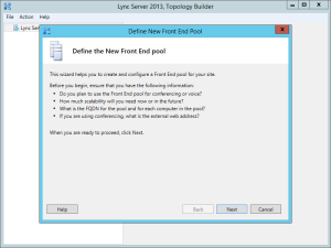 Lync 2013 FE Topology - 06 New Pool