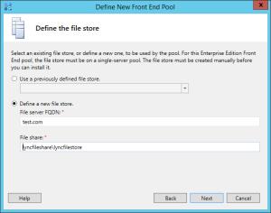 Lync 2013 FE Topology - 14 File Store
