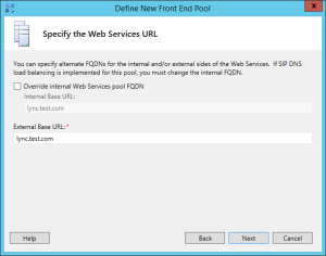 Lync 2013 FE Topology - 15 Web Services URL