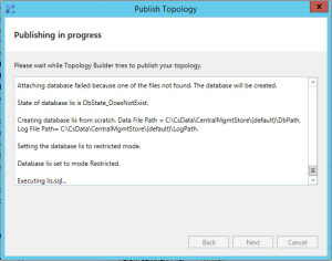 Lync 2013 FE Topology - 25 Publish Topology