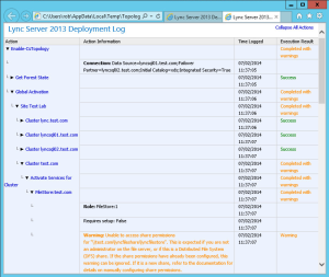 Lync 2013 FE Topology - 27 Publish Topology Logs
