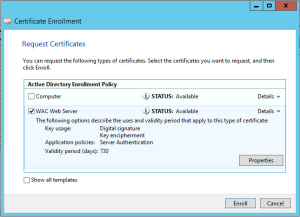 Office Web Apps 2013 Certificate Request 2