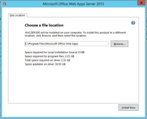 Office Web Apps 2013 Installer