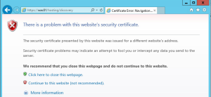 Office Web Apps 2013 - Test SSL Error