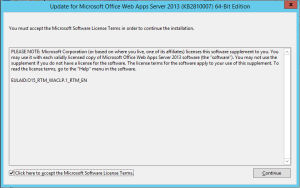 Office Web Apps 2013 - Update