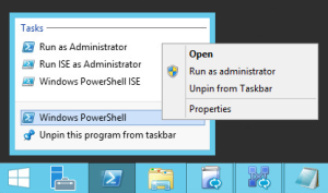 Running PowerShell as an administrator