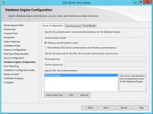 SQL Server 2012 - Setup SQL Authentication
