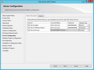 SQL Server 2012 - Setup Service Accounts