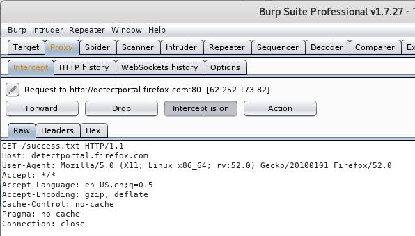 Firefox Captive Portal Detection and Burp Suite - JERVIS DOT WS